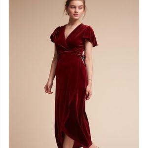 Bhldn wine bridesmaids dress